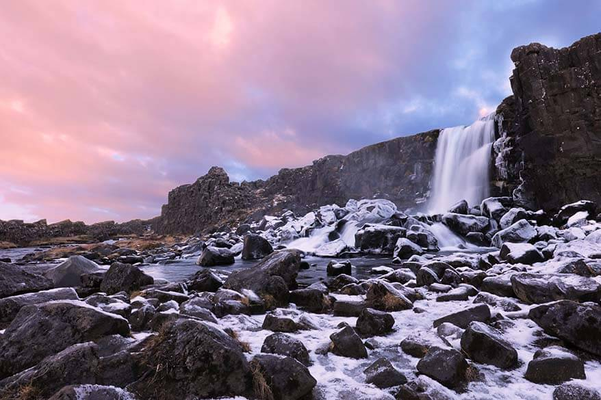 Thingvellir National Park is one of the three stops on the Iceland Golden Circle Tour