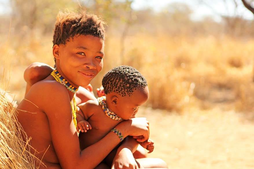 Visiting the San tribe at Erindin Private Game Resort in Namibia