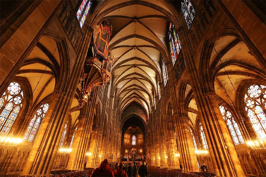 Interior of Strasbourg cathedral