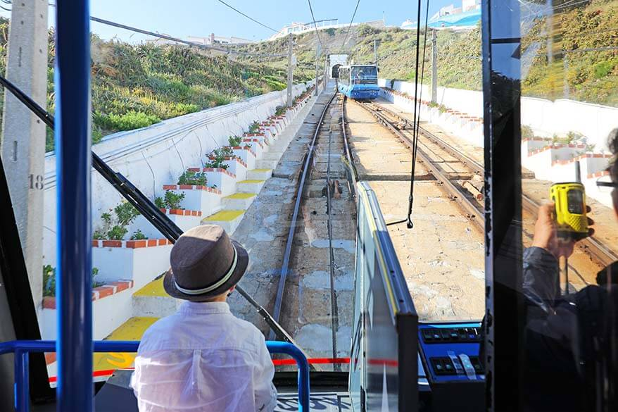 Nazare funicular in Portugal