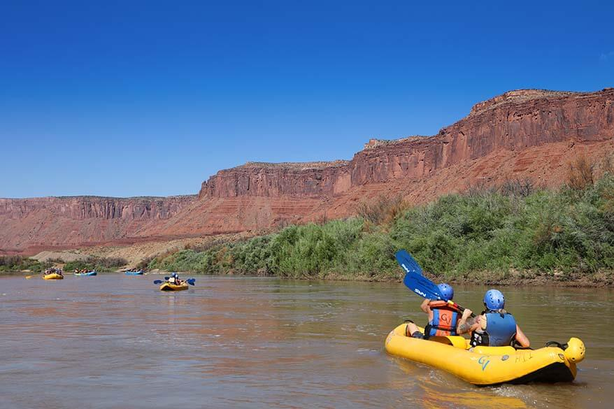 Rafting on the Colorado River from Moab in Utah