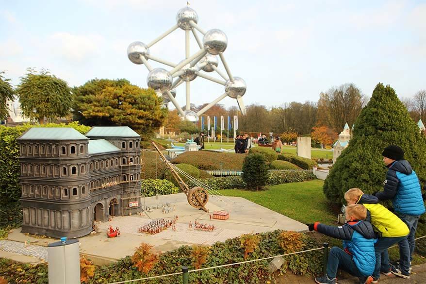 Mini-Europe miniature park in Brussels