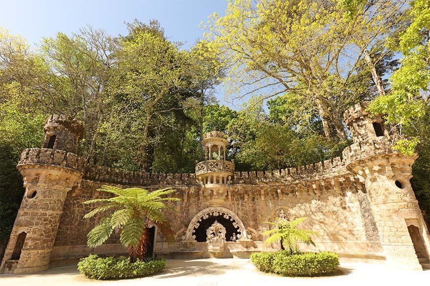 Explorig the gardens of Quinta da Regaleira in Sintra Portugal