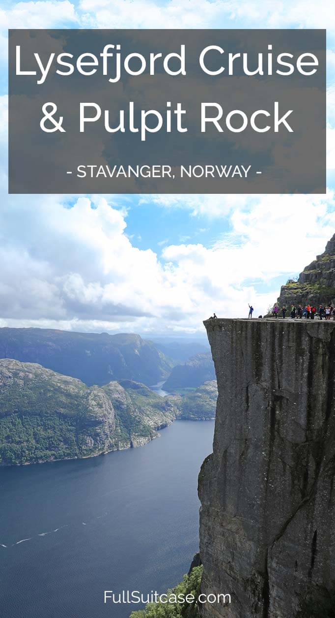 How to do both - Lysefjord cruise and the Pulpit Rock (Preikestolen) hike from Stavanger in one day. See two iconic highlights of Norway in just one day!