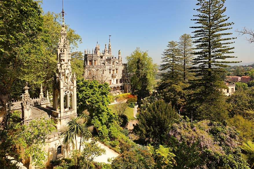 Quinta da Regaleira castle and the chapel surrounded by beautiful gardens is one of the musts in any Sintra itinerary