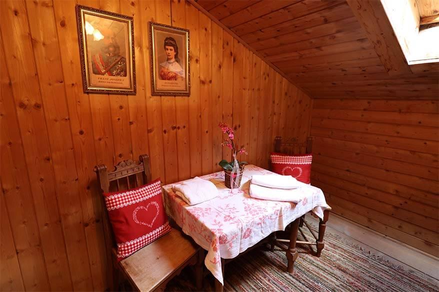 Empress Sissi room in Gasthof Kaiserhaus