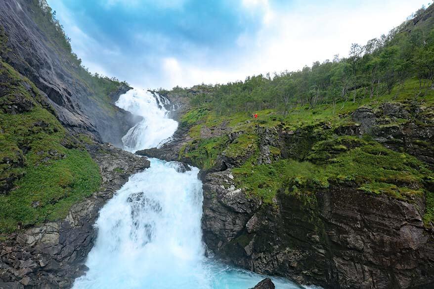 Kjosfossen waterfall - Flam railway Norway