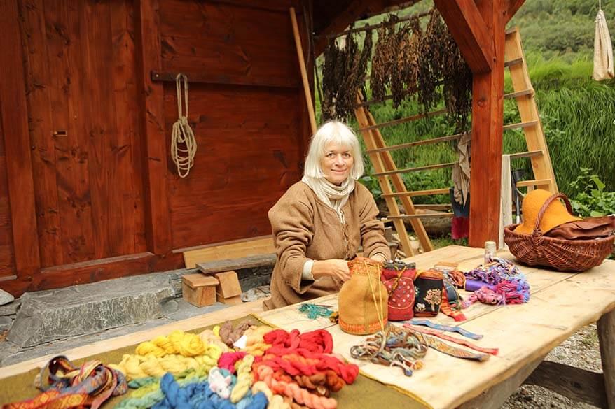 Viking handcrafts at Viking Valley in Gudvangen