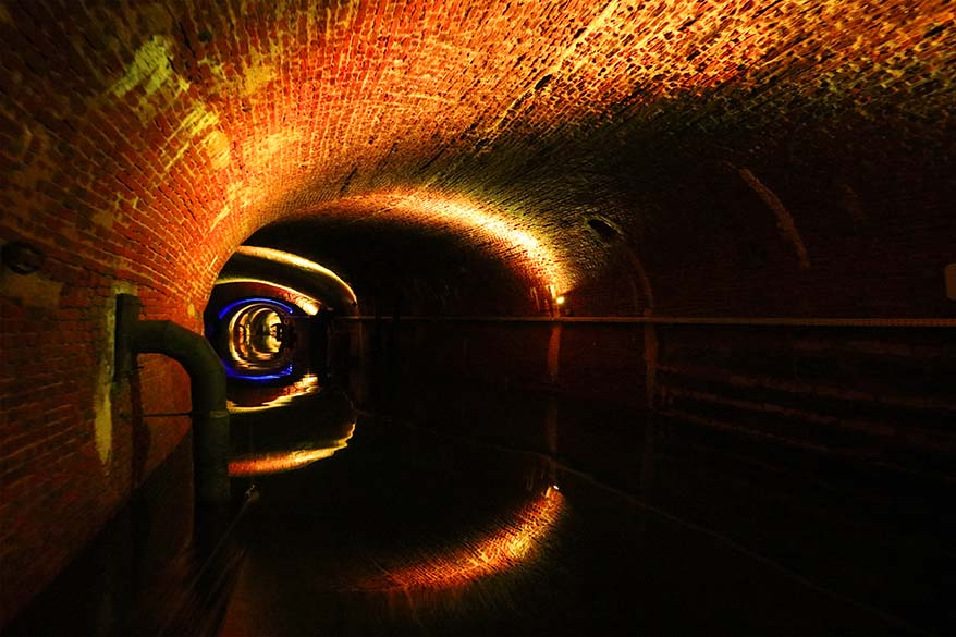 De Ruien sewers and underground canals is a fun place to visit in Antwerp with kids