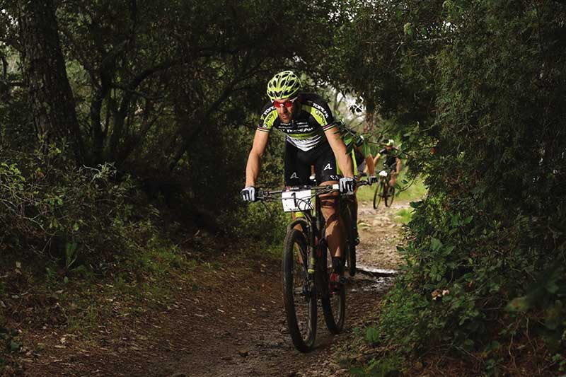 Topeak Ergon's World XCM Champ Alban Lakata in action.