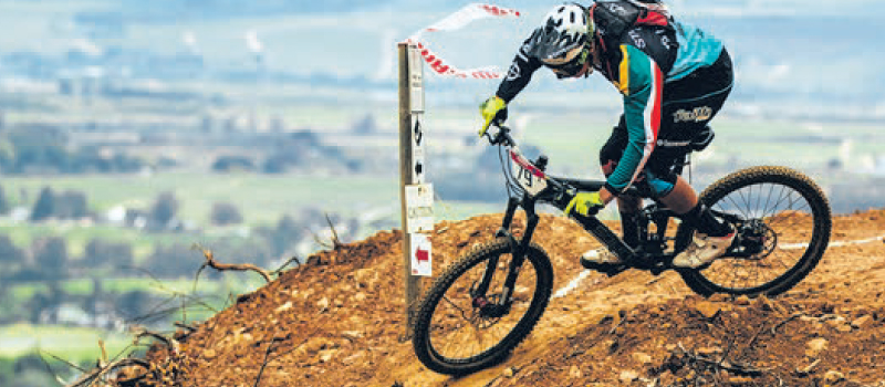 Stef shows us why is the current reigning SA Downhill MTB champ.