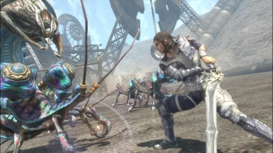 Lost Odyssey cinematic showing a battle between man and beast