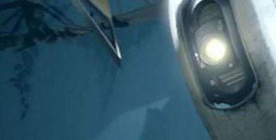 Portal 2 robot seemingly staring at boobs