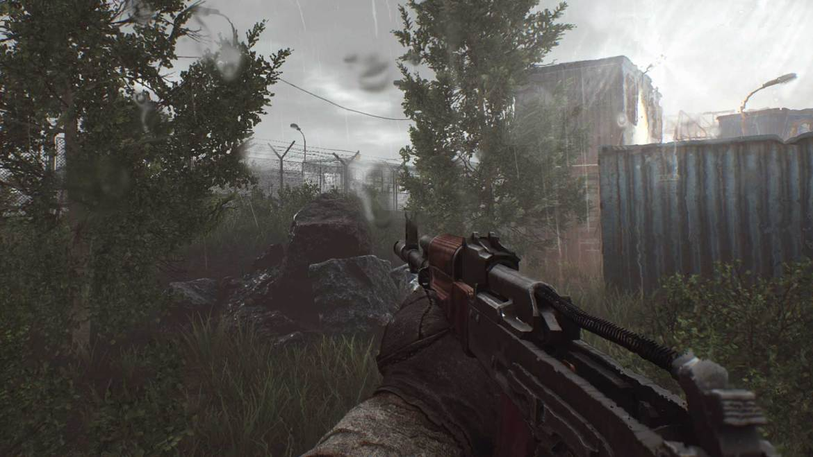 Escape from Tarkov first-person view with gun