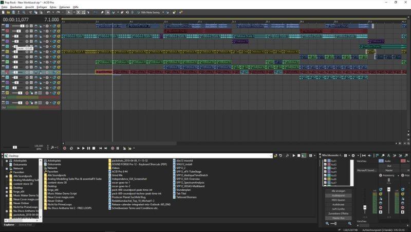 Screenshot of ACID Pro 8 Screen INT