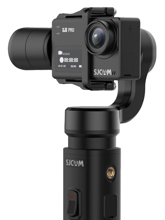 SJCAM Gimbal 2 with SJ8 Pro Action Camera in place