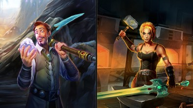 RuneScape artwork showing off the old school mining and smithing skills that are coming back to the game