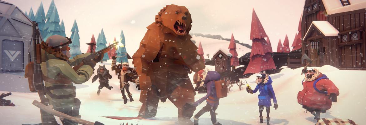 Other Ocean's Project Winter logo header image with bear in winter