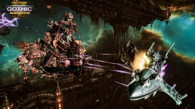 Battlefleet Gothic Armada II gameplay of ships in space