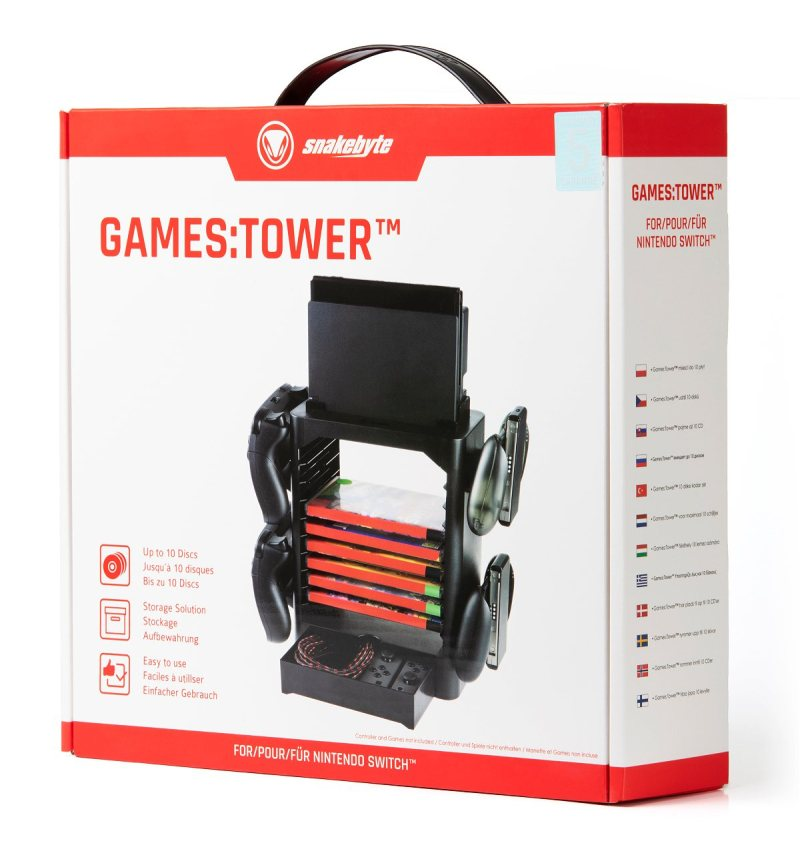 Snakebyte GAMES:TOWER for Nintendo Switch