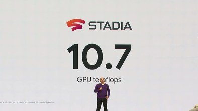 Google announcing the Stadia Teraflops at GDC