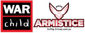 War Child UK and Armistice combined logo