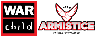 War Child UK and Armistice combined logo