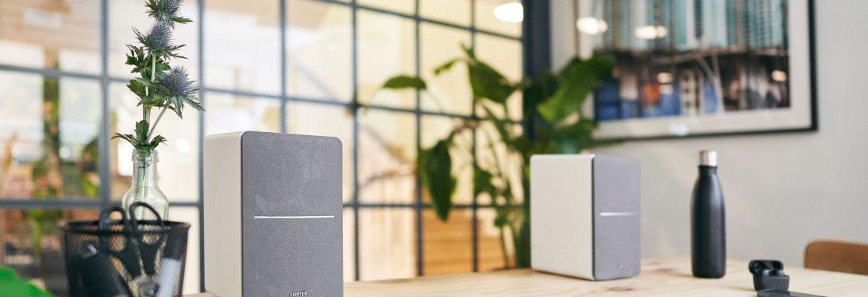 Edifier R1280T speakers on desk