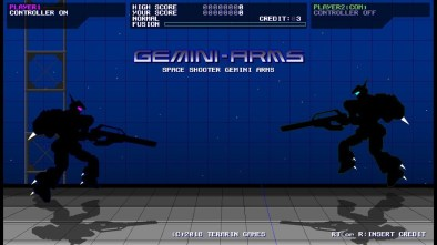 GeminiArms start screen