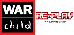 War Child and Re-Play logos side by side