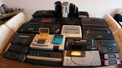 A collection of Retro Games Consoles