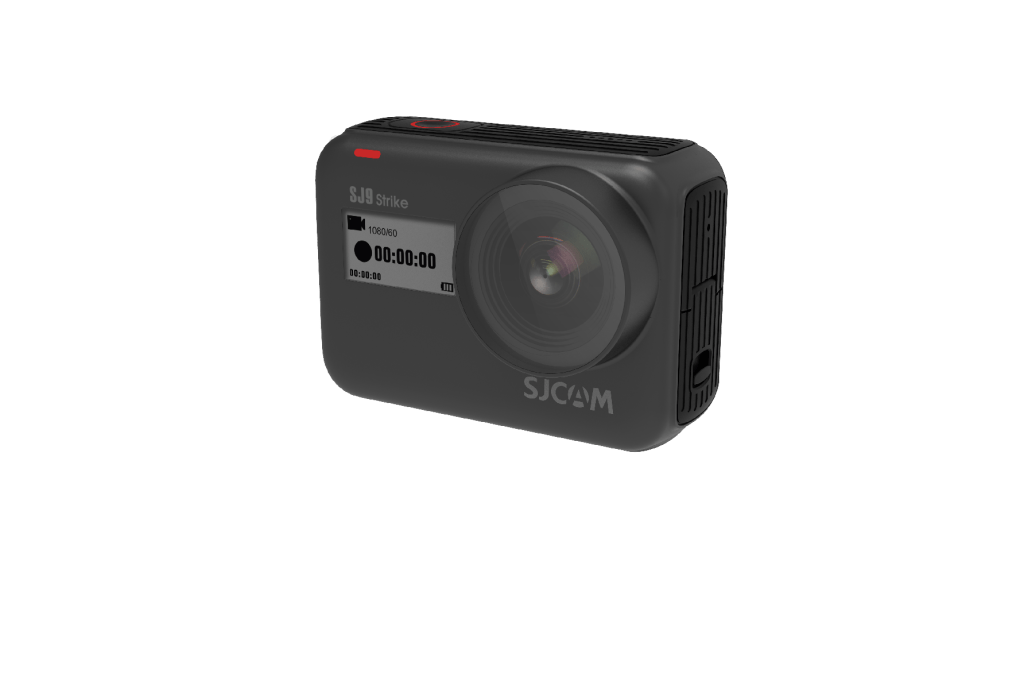 One of the new cameras to the SJ9 Series, the SJ9 Strike, unboxed with a black outer shell.