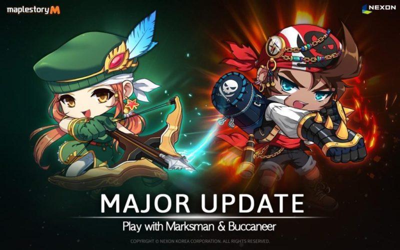 maplestory M Update showcasing two new explorers