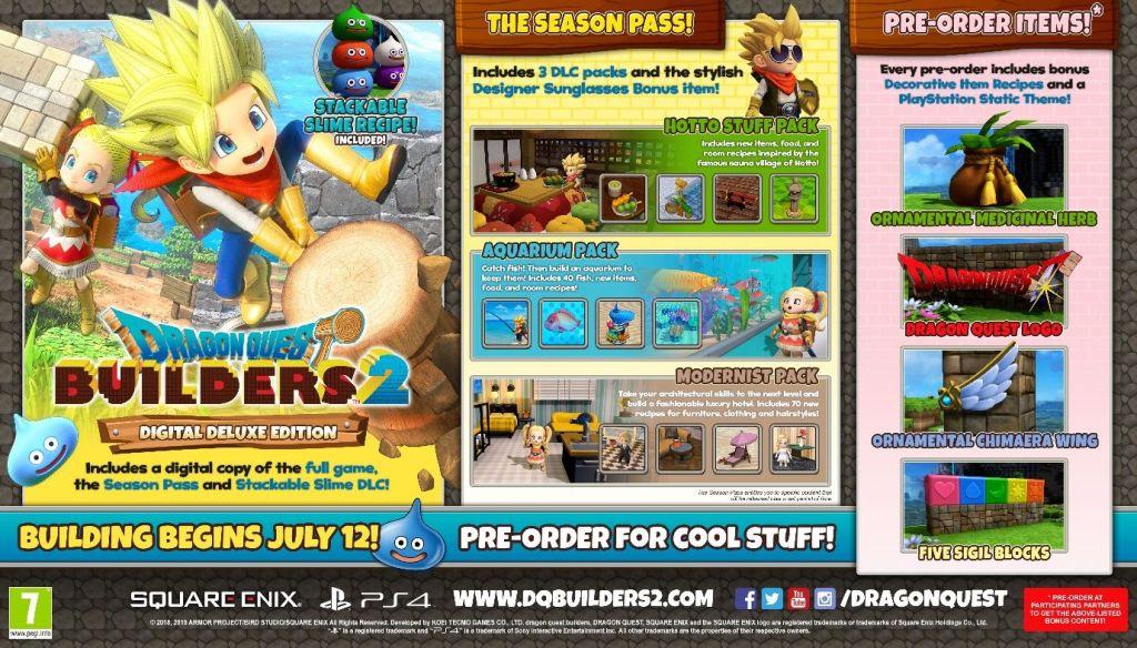 Dragon Quest Builders 2 Bonuses