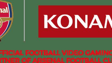 Arsenal FC logo next to Konami logo