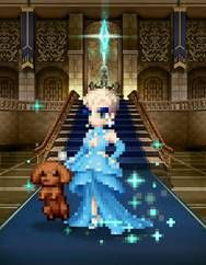 Katy Perry as a pixelated character in Final Fantasy Brave Exvius