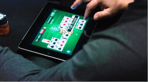 online Casino Card Game on a Tablet