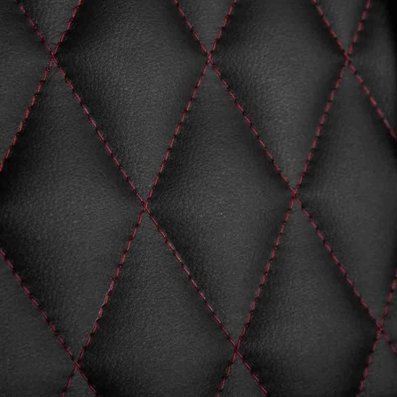 BraZen Phantom Elite Back in red and black with diamond pattern