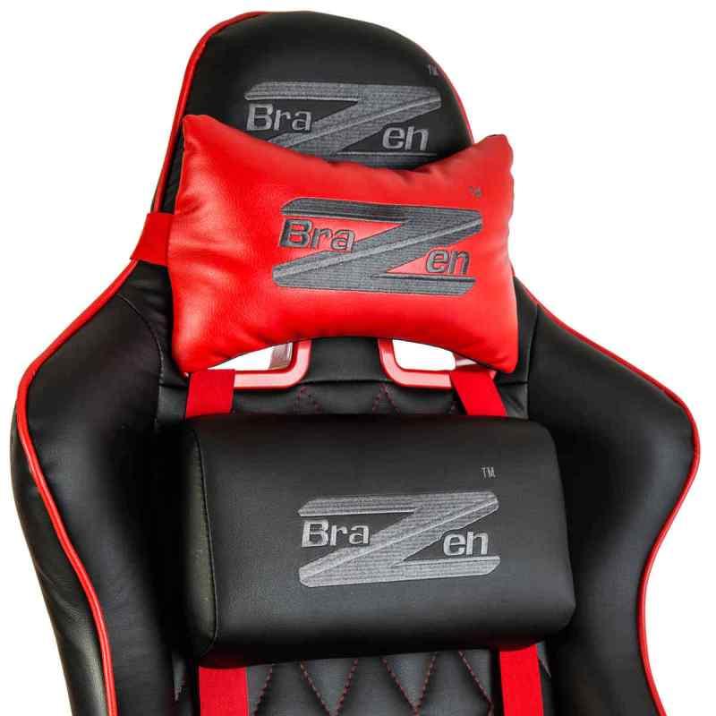 BraZen Phantom Elite Cushions in red and black
