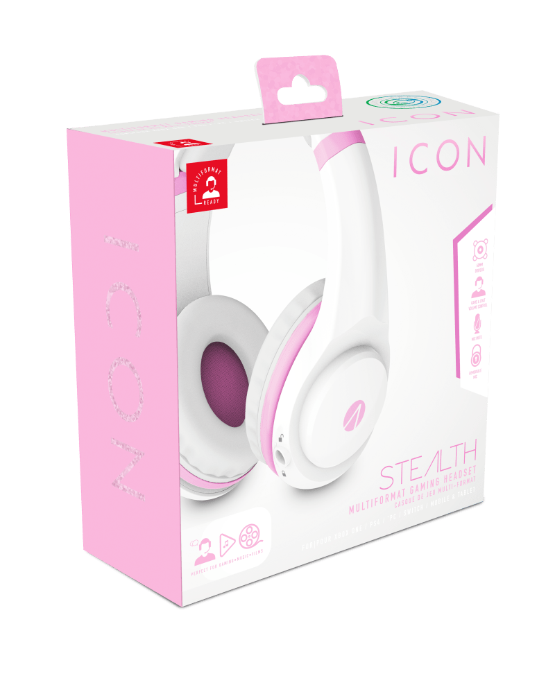 STEALTH XP Icon in white and pink in box