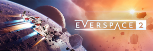Everspace 2 logo with Space background