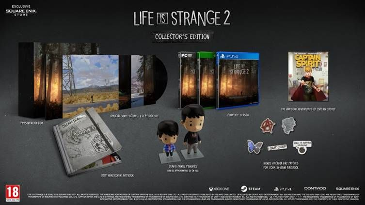 Life is Strange 2 Boxed Edition showing all contents