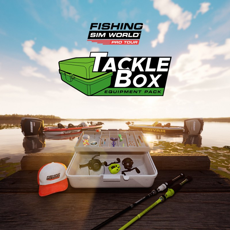 Fishing Sim World: Pro Tour Tackle Box Equipment Pack logo with Tecklebox image
