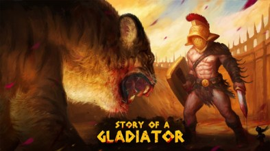 story of a gladiator logo