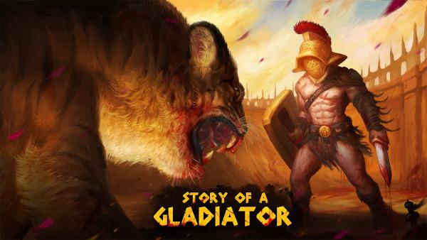 story of a gladiator logo