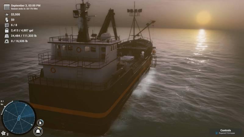 Deadliest Catch: The Game gameplay screenshot of a ship sailing