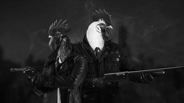 """Sonny Featherland and Marty MacChicken, aka the """"Chicken Police"""""""