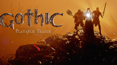 Gothic Playable Teaser logo and artwork