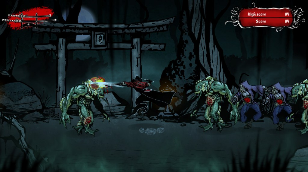 Musashi vs Cthulhu gameplay footage sword fight