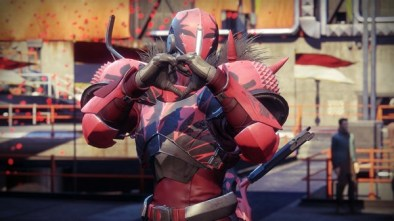 Destiny 2 Crimson Days 2020 Guardian making a heart with their hands